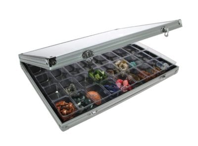Aluminum Rock Case with 45 Compartments