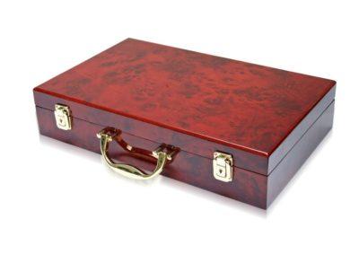 "Coin Case ""Executive"" Burlwood Carrying Empty"
