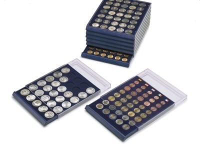 """Stackable Coin Storage Drawer for Cents & Dimes w/63 Compartments (3/4"""")"""
