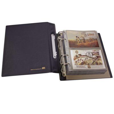 Postcard Albums-Compact Blue for Modern Postcards