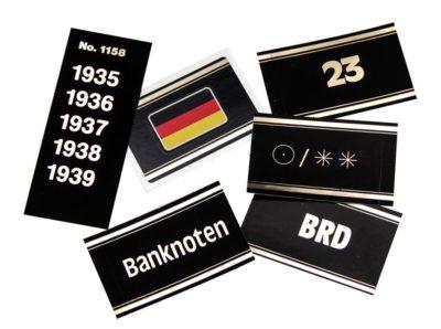 Preprinted Gold Embossed Labels