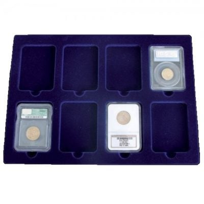 Coin Tray For 8 Certified Coin Slabs
