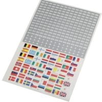 Self Sticking Flag & Year Date Labels