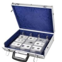 Aluminum Travel Briefcase for Slab Coin Pages