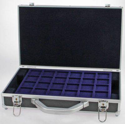 Aluminum Coin Case w/Black Shockproof Exterior-EMPTY