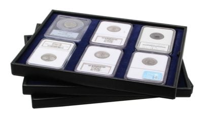 Leather Coin Case for Graded Coins / Slabs