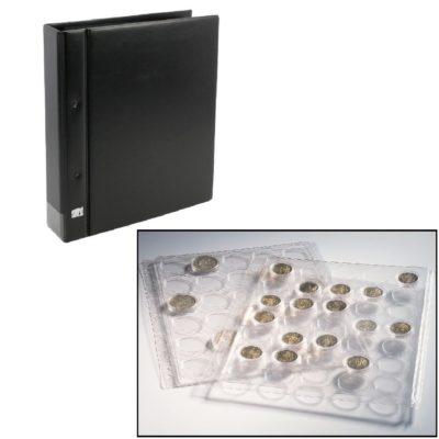 Coin Album for Half Dollars in Capsules - Black
