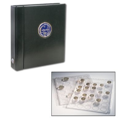 Premium Coin Album in Black for Silver Eagles in Capsules
