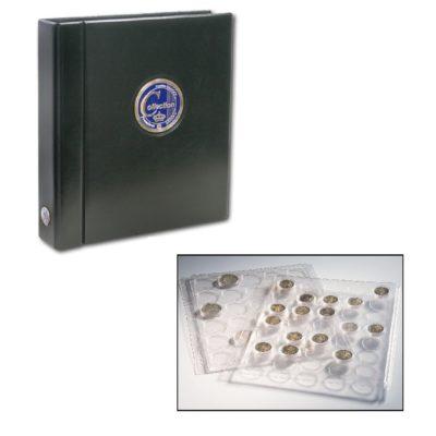 Premium Coin Album for Half Dollars in Capsules - Black Premium