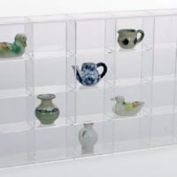 Rock Display Case-Acrylic Glass Curio w/20 Compartments