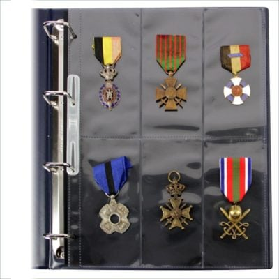 Transparent 6 Pocket Page For Military Medals Per 10