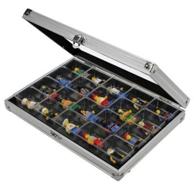 Aluminum Display Case for 20 Lego Figurines
