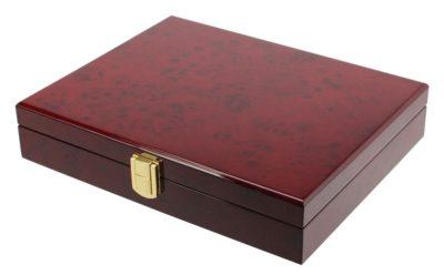 """Coin Display Box """"Premium"""" Burlwood"""