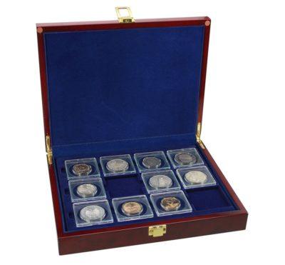 """Coin Holder Case for 2""""x2"""" Flips-Premium Burlwood"""