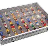 Aluminum Display Case for Lego Figurines
