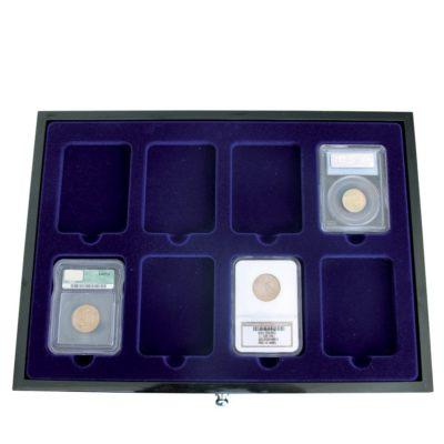 Coin Slab Box-Designer Chest for 24 Certified Slabs