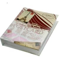 Postcard Album Retro with 50 Transparent Pages