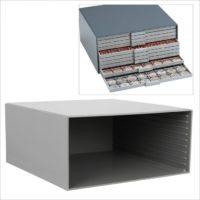 Coin Collection Case-Beba Maxi Gunmetal Grey