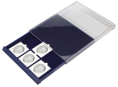 """Stackable Coin Storage Drawer for 2x2"""" Flips and Square Capsules w/12 Compartments"""