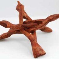 Hand Carved Wood Cobra Stands