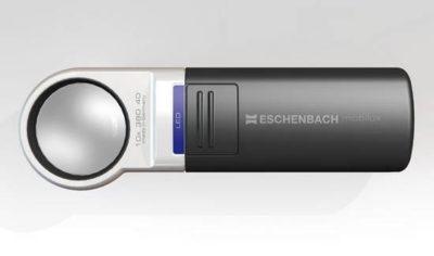 Eschenbach Optik 1511-7 Mobilux Aspheric LED Illuminated Hand Held Magnifier, 7x Magnification, 28 Diopter, 35mm Lens Diameter