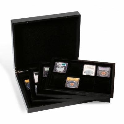 Coin Slab Box Black Wood for 32 Slabs NGC/PCGS