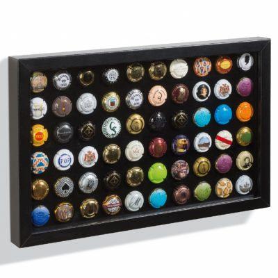Black Presentation Frame For 60 Bottle Caps