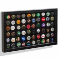 Black Presentation Frame For 60 Bottle Caps