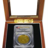 Coin Slab Box w Glass Display Case