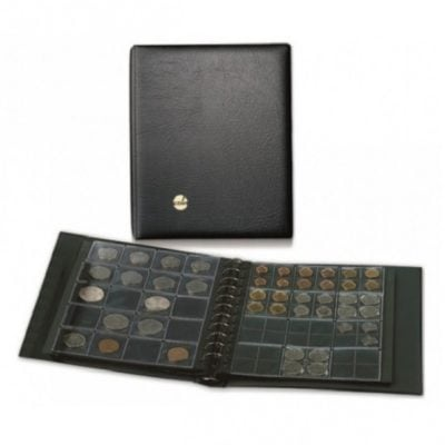 Black Coin Combi Album With 4 Heavyweight Pages