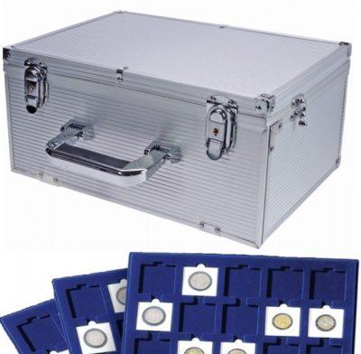 """Jumbo Aluminum Coin Case for 225 2x2"""" Flips"""
