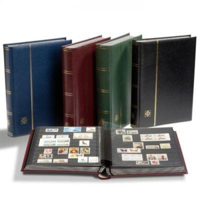 Premium Leather Stockbook with Slipcase-Wine Red