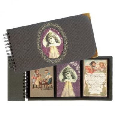 Postcard Albums - Nostalgia with 12 Black Pages