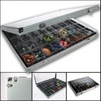 Aluminum Display Case with 45 Compartments
