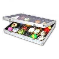 Aluminum Display Case Extra Deep with 24 Compartments