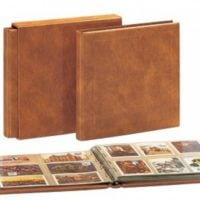 Postcard Albums Package Luxus - Saddle Tan with 10 pages