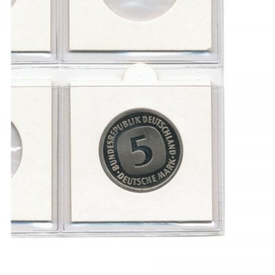 "2"" x 2"" Coin Holders to 15.0 mm - Self Adhesive"