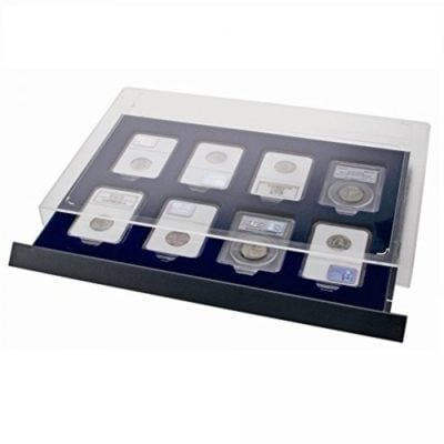 Coin Slab Box - Stackable Drawer For 8 Certified Coin Slabs