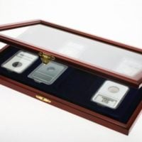 Coin Display Case for 8 Certified/Graded Slabs