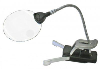 LED Illuminated Table/Clip On Lamp- 2.5x+5x