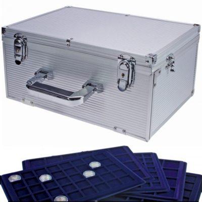 Coin Storage Box - Aluminum Case w/15 Trays