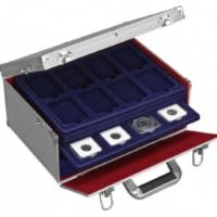 Coin Slab Box Aluminum Case For 80 Slabs