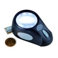 Desk Stand Magnifier 5x with LED Lighting