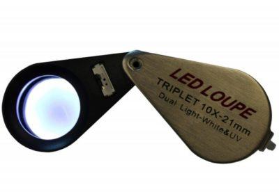 10x UV and LED Loupe