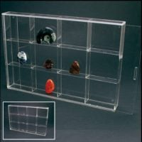 Rock Display Case-Acrylic Glass Curio w/12 Compartments 3""