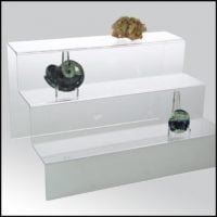 Mineral Display Steps-Clear Acrylic Glass Riser Step Display