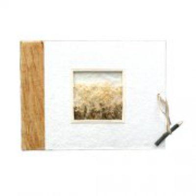 Natural Cotton & Bark Photo Album-Small
