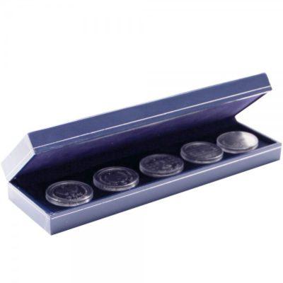 Coin Box - Blue Leatherette Custom-Long