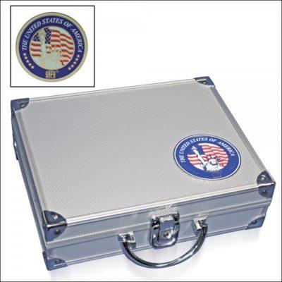 Aluminum Coin Case for Presidential Dollars in Capsules