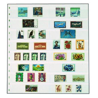 Garant Stockbook Page White-8 Strips Per 5
